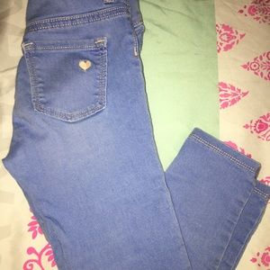 Girls denim skinny jeans